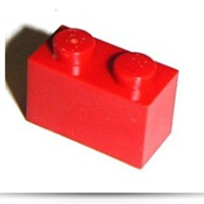Building Accessories 1 X 2 Red Brick