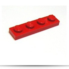Building Accessories 1 X 4 Red Plate